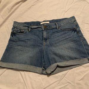 Womans loft shorts size 10